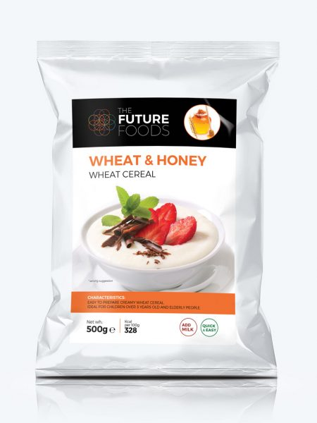 Wheat based honey-flavoured cereal